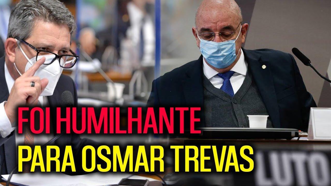 HUMILHANTE!! ROGÉRIO CARVALHO SENADOR DO PT ACABOU COM OSMAR TREVAS NA CPI!!!
