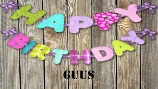 Guus   wishes Mensajes