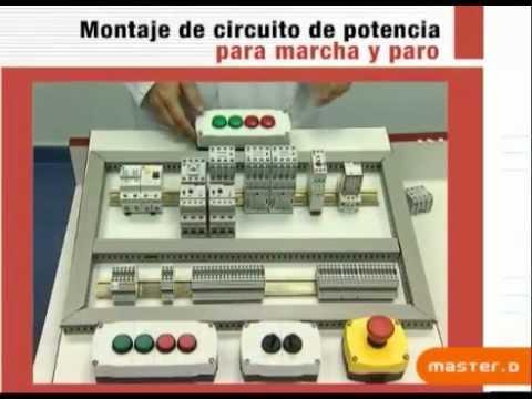 Montaje de circuito de potencia para marcha y paro - YouTube
