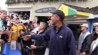 President Obama visits Nancy's Restaurant in Oak Bluffs