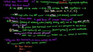 Cancer Chemotherapy - How It Works (Biochemically)