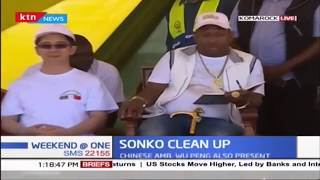Governor Sonko leads this month\'s clean up exercise in Komarock