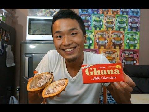 Eating Raw Chocolate in Ghana???
