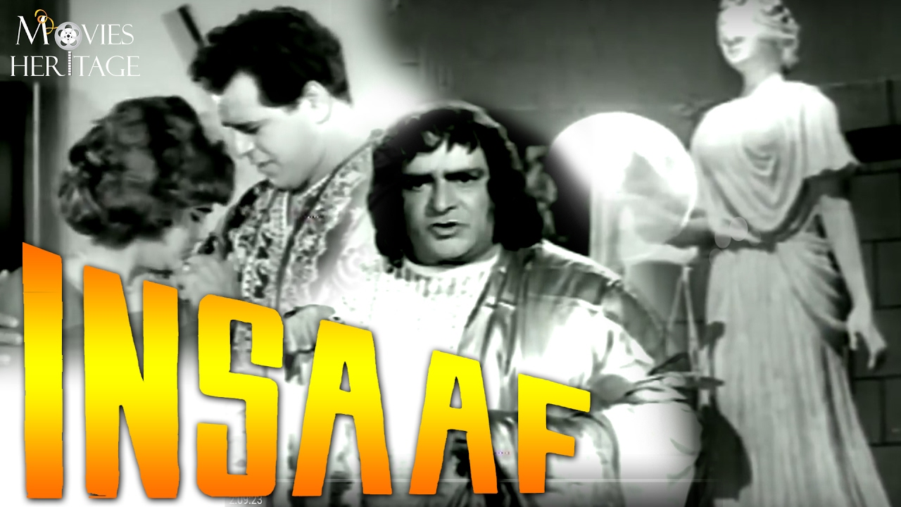 Insaaf 1956 Full Movie | Prithviraj Kapoor, Dara Singh | Bollywood Classic Movies | Movies Heritage