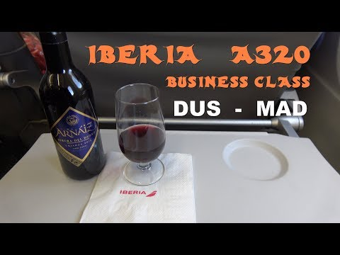 Iberia Business Class Dusseldorf - Madrid A320