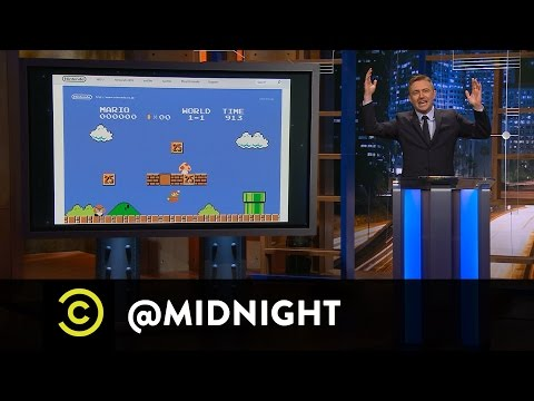 Andrea Savage, James Urbaniak and Paul F. Tompkins  Super Mariold  @midnight with Chris Hardwick