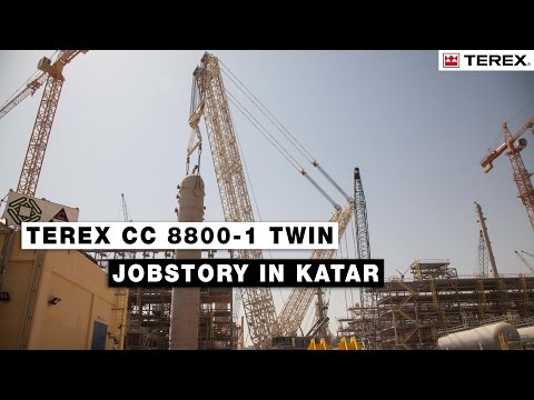 Terex CC 8800-1 Twin Jobstory in Katar