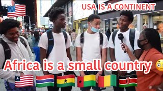 Africa is a small country 🤣AMERICANS BELIEVE USA IS BIGGER THAN AFRICA.