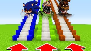 DO NOT CHOOSE THE WRONG STAIRS(SONIC.EXE,NIGHTMARE BALDI, NIGHTMARE FREDDY) (/PE/MCPE)