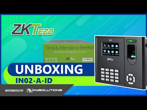 UNBOXING: ZKTECO IN02-A-ID Biometrics With Door Access Control