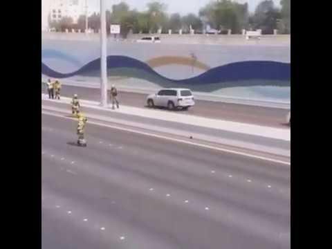 La police d'Abu Dhabi sauve… un chaton coincé sur l'autoroute