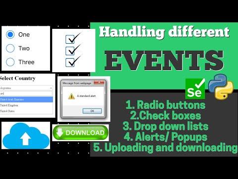 Selenium Tutorial Part 9 | Handling Different Events | Radio Button, Check Boxes, Alerts/popup Etc.