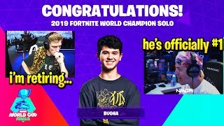 BUGHA 'SHOCKS EVERYONE' DOMINATES FORTNITE WORLD CUP - WINS $3,000,000!