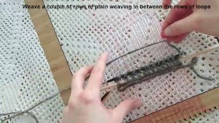 A tutorial on how to add loops to your fame loom weaving instagram:...