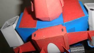 Voltes V Papercraft Model, with music video