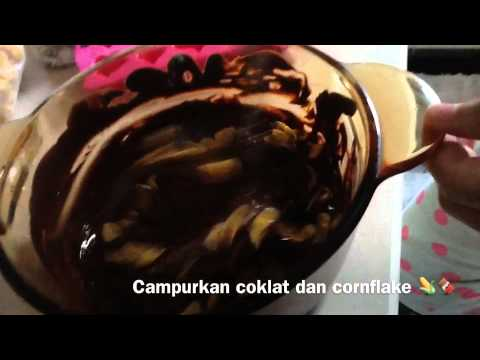 Kue Tanpa Mixer & Oven : Chocolate Cornflake Cakes! | Doovi