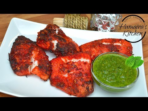 Tandoori Fish - Grilled Fish Without Oven - Fish Tikka Recipe - Healthy Fish For Weight Loss