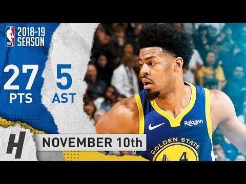 Quinn Cook Full Highlights Warriors vs Nets 2018.11.10 - 27 Points, 5 Ast
