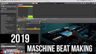 First Beat Of 2019! Maschine Hip Hop Beat Making!