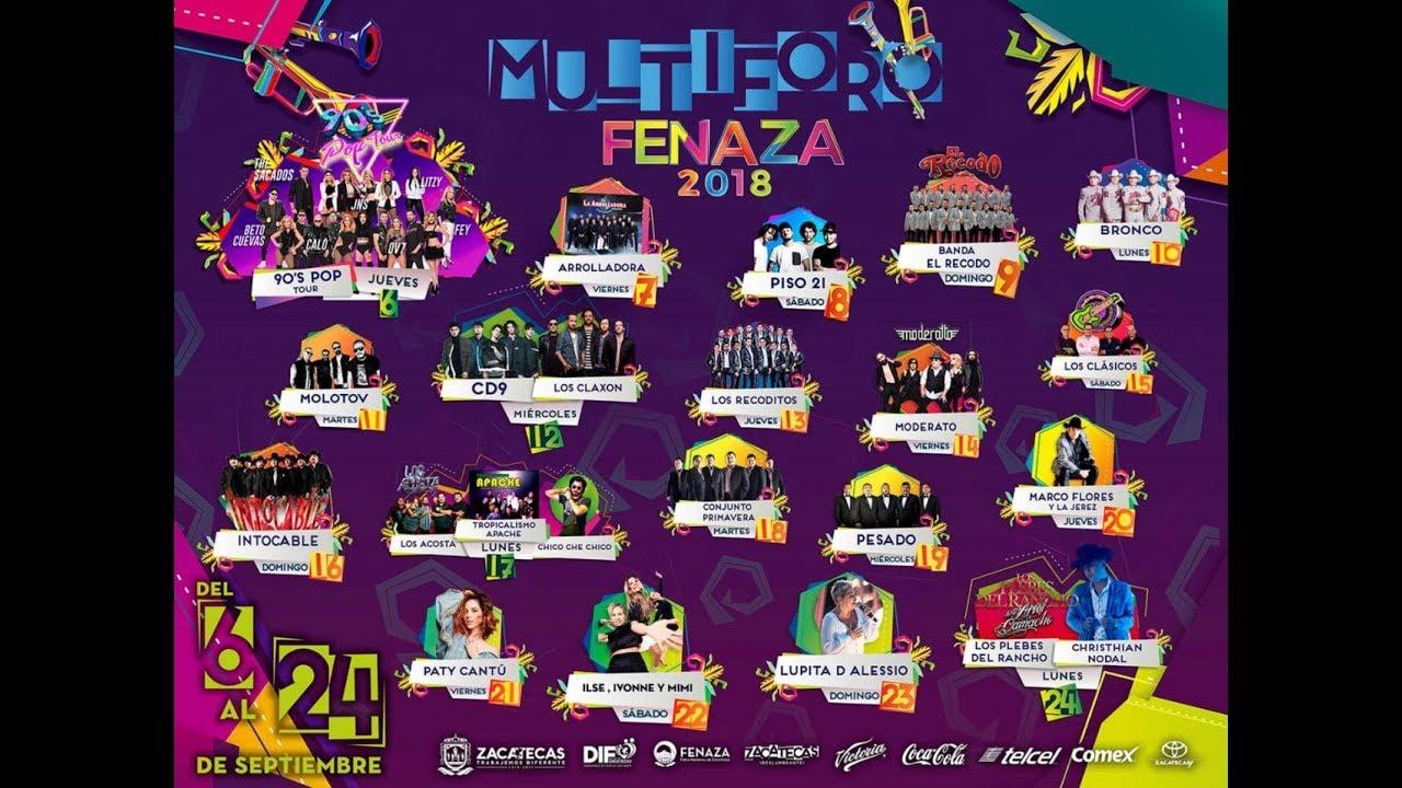 Programa General Feria Nacional de Zacatecas 2018