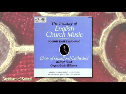 """Treasury of English Church Music"" LP 1965 - Guildford Cathedral Choir (Barry Rose)"