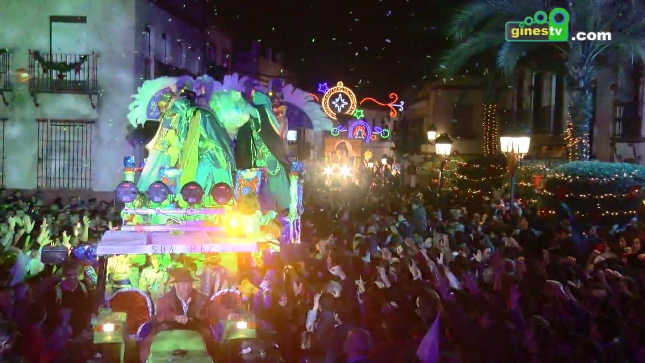 Los Reyes Magos cumplieron con su cita del 5 de enero en Gines con una espectacular Cabalgata