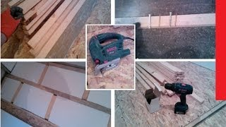 Монтаж OSB для пола на деревянных лагах / Installation OSB floor on wooden joists(Монтаж OSB для пола на деревянных лагах / Installation OSB floor on wooden joists Материалы: Деревянный брус 40х20 ..., 2014-02-28T19:09:56.000Z)