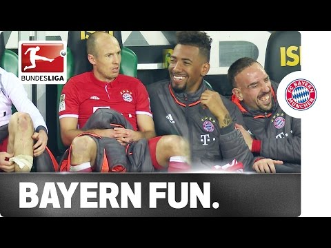 Laughter on the Bayern Bench - Robben Not Amused