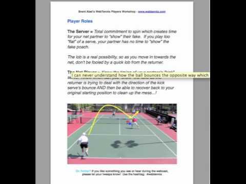 Tennis Webcast - Kick Serve & Fake Poach Doubles Stragey