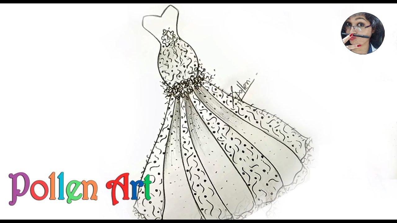 b5e9d91e How to Sketch Wedding Fashion Designs Dress | how to draw dresses like a  fashion designer 2019