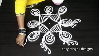 Simple 3 dots Margazhi kolam for Beginners || Dhanurmasam muggulu by easy rangoli designs
