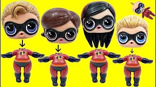 Learn Colors with The Incredibles 2 Custom LOL SURPRISE DOLLS Wrong Heads TOY SCHOOL Surprises