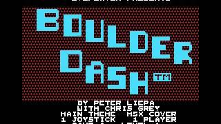 Boulder dash msx cover
