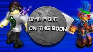 ROBLOX BYM: SuperSpeedy101 vs HotDogs37 en la luna! Y DONALD TRUMP!?!?