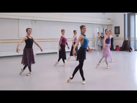 The corps de ballet rehearse Romeo and Juliet (The Royal Ballet)