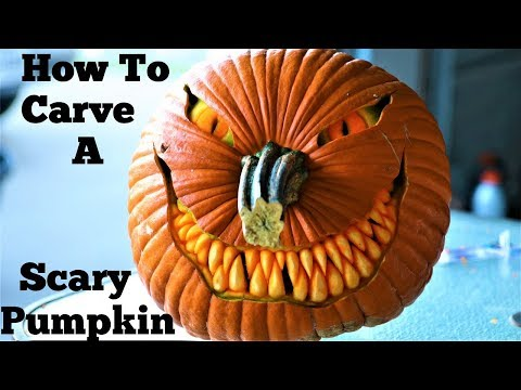 How To Carve A Simple And Scary Pumpkin Face 2 Youtube Scary pumpkin coloring page from pumpkins category. carve a simple and scary pumpkin face