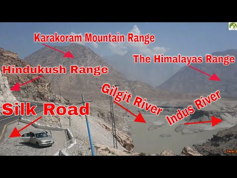 Where The Himalayas Meet Hindukush & Karakoram & Indus with Gilgit Rivers On Silk Road Pakistan