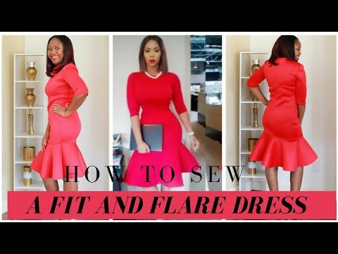 How to Sew a Fit and Flare Dress Using M6886 Pattern