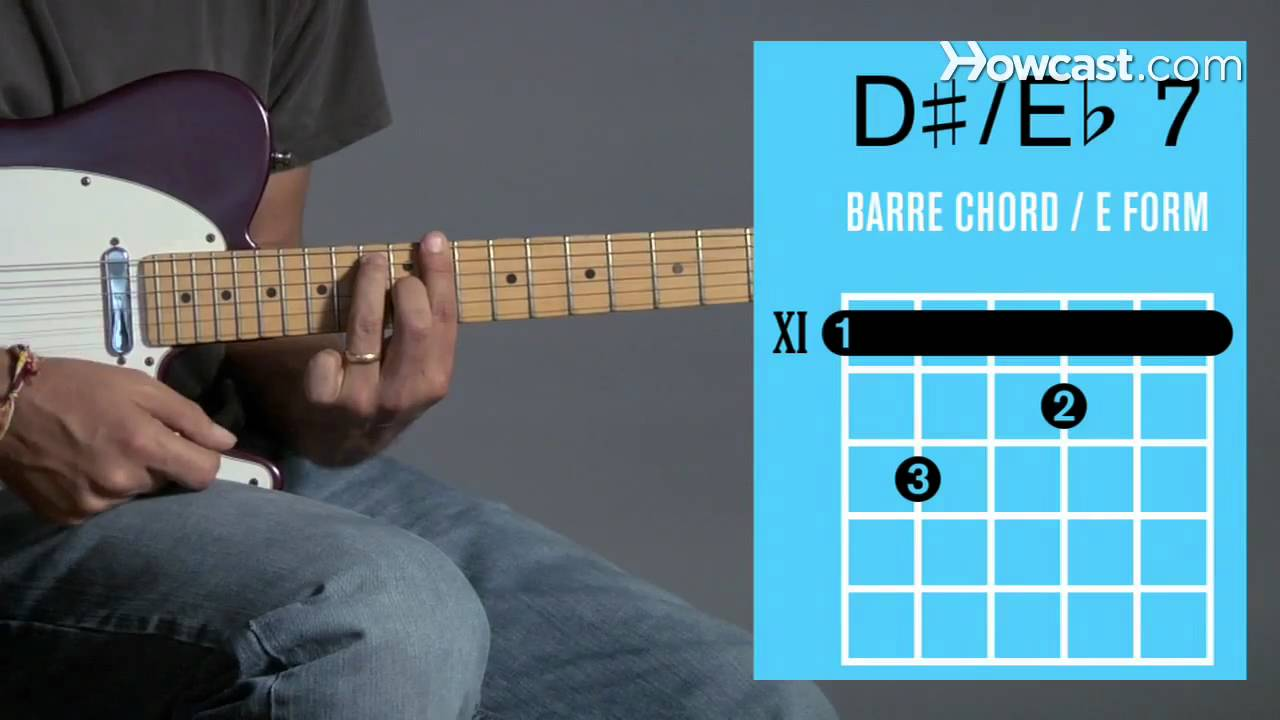 How To Play An E7 D 7 Barre Chord Guitar Lessons Youtube