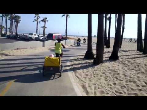 Bike ride from Santa Monica to Venice beach with Google Glass