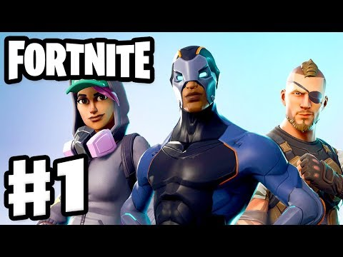 Fortnite - Gameplay Part 1 - Battle Royale! Squads, Solo, And 50 V 50!