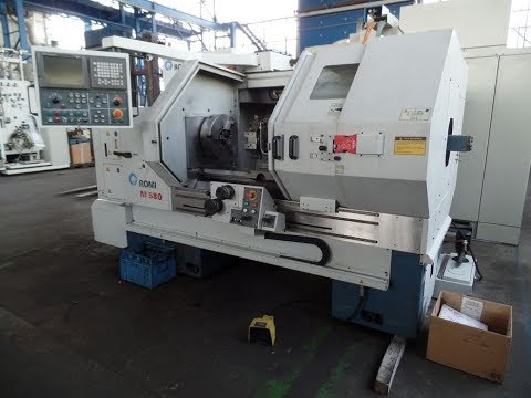 Cycle Flat Bed CNC Lathe Romi M580