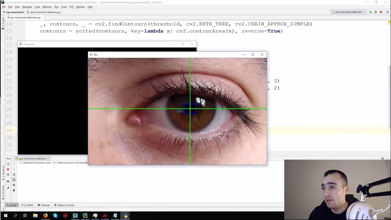 Eye motion tracking - Opencv with Python - Pysource