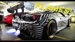 LOUDEST Liberty Walk iPE Exhaust Ferrari 458 GT SHOOTING FLAME…
