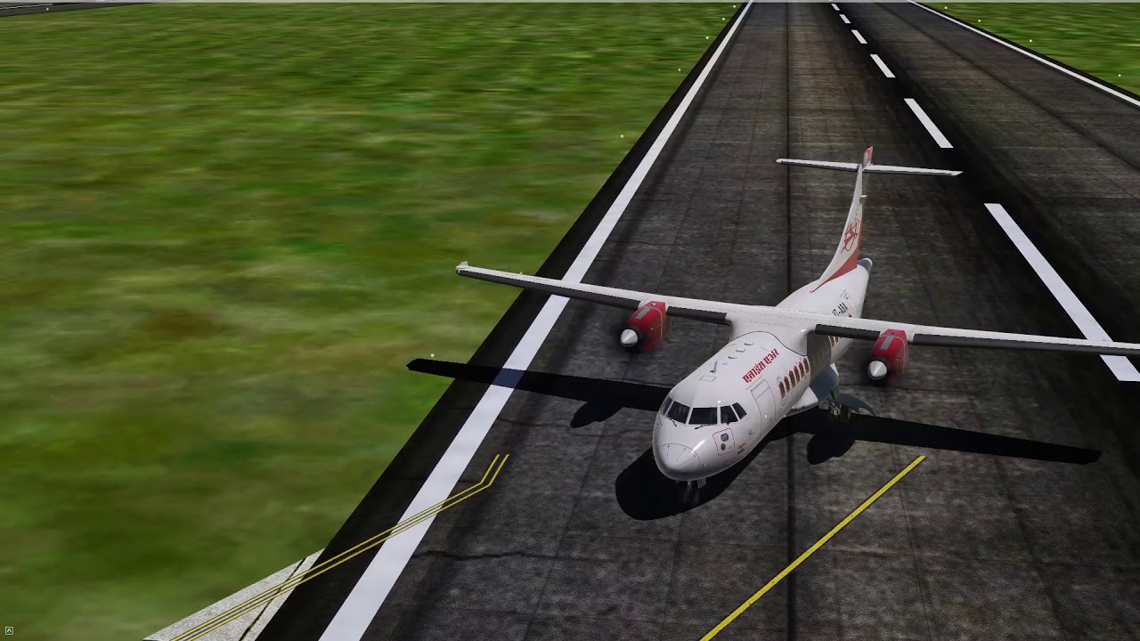 P3Dv4] Alliance Air Carenado ATR42-500 landing at Kolkata