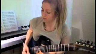 お見事。ギターがとってもうまいお姉さんの動画.wmv thumbnail