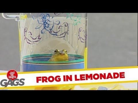 Khmer24movie: Frog in Lemonade Hidden Camera Prank - Funny
