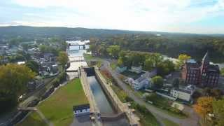 Drone Footage Erie Canal Lock 2 Waterford New York