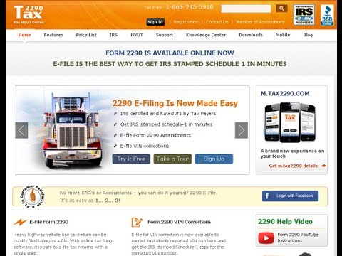 How To E-file Truck Tax Form 2290 Online ?