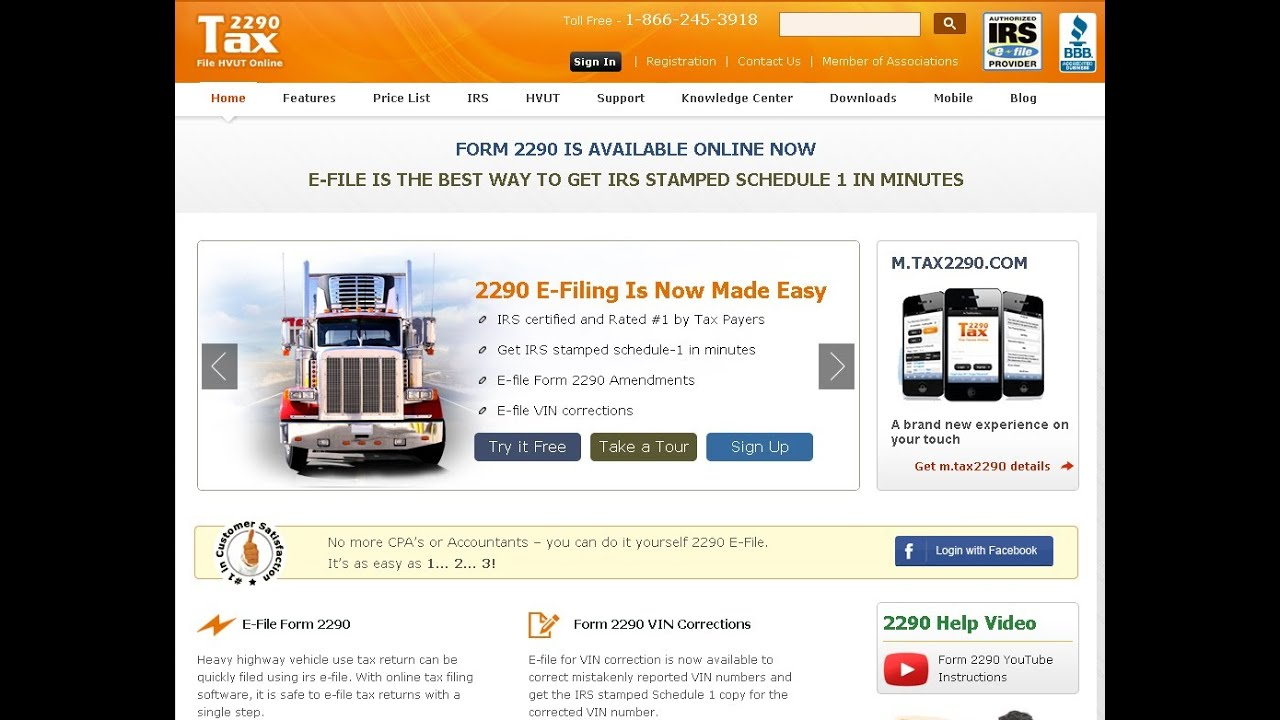 How To E-file Truck Tax Form 2290 Online ? - YouTube